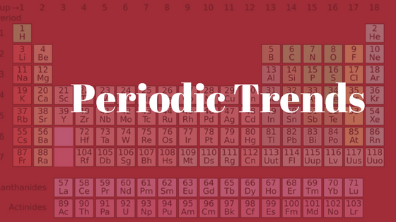 Periodic Table and Trends: the start of your love for Chemistry